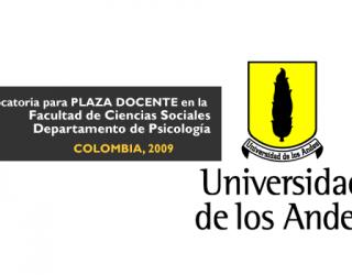 Convocatoria para plazas docentes en la Universidad Los Andes – Colombia