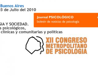 XII Congreso Metropolitano de Psicología – Argentina