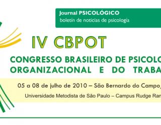 IV Congreso Brasileño de Psicología Organizacional y del Trabajo