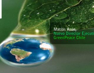 El Psicólogo Matías Asún asume la Dirección Ejecutiva de GreenPeace Chile