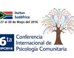 6ta Conferencia Internacional de Psicologia Comunitaria