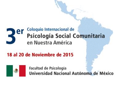 3er Coloquio Internacional de Psicología Social Comunitaria en nuestra América